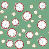 Seamless pattern with watches 566 Royalty Free Stock Photography