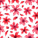 Seamless pattern from water color flowers Stock Photos