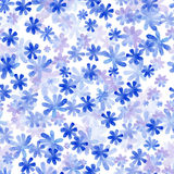 Seamless pattern from water color flowers Stock Photo