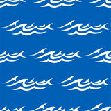 Seamless pattern with water waves Royalty Free Stock Images