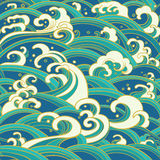 Seamless pattern with water waves and splashes Stock Photography