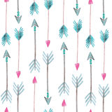 Seamless pattern with watercolor arrows Stock Photography