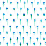 Seamless pattern with watercolor berries. Seamless pattern with blue freehand watercolor berries Royalty Free Stock Images