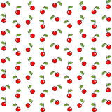 Seamless pattern with watercolor berry cherry. Endless repeating print background texture. Fabric design, Vector illustration Royalty Free Stock Image