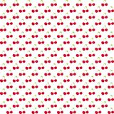 Seamless pattern with watercolor berry cherry. Endless repeating print background texture. Fabric design. Wallpaper -  Royalty Free Stock Image