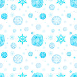 Seamless pattern with watercolor Christmas snowflakes Stock Image