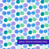 Seamless pattern with watercolor circles Royalty Free Stock Image