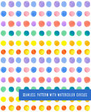 Seamless pattern with watercolor  circles Royalty Free Stock Photos