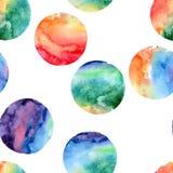 Seamless pattern of watercolor circles royalty free illustration