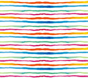 Seamless pattern watercolor. Colored horizontal Stock Photos
