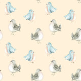 Seamless pattern of the watercolor cute birds Royalty Free Stock Photos