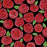 Seamless pattern with watercolor cute roses Royalty Free Stock Photos