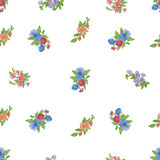 Seamless pattern with  watercolor daisies. Royalty Free Stock Images