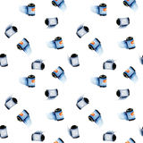 Seamless pattern with watercolor films for camera Stock Image