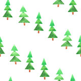 Seamless pattern with watercolor fir tree Royalty Free Stock Photos