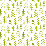 Seamless pattern with watercolor fir trees Royalty Free Stock Image