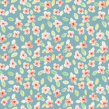 Seamless pattern. Watercolor flowers. Little flowers. Royalty Free Stock Image