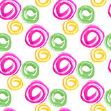 Seamless pattern. Watercolor geometric shapes in abstract style. Stock Image