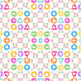 Seamless pattern. Watercolor geometric shapes in abstract style. Seamless pattern for textile and wallpaper. Set of watercolor geometric shapes in abstract Royalty Free Illustration