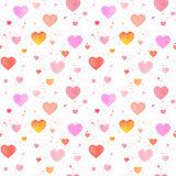 Seamless pattern with watercolor hand-drawn heart Royalty Free Stock Images
