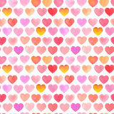 Seamless pattern with watercolor heart on white background. Stock Images