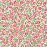 Seamless pattern with watercolor illustration, curly red orange ocher flowers Clematis on green blue claret background. Illustrati. On for printing on fabric royalty free illustration
