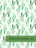 Seamless pattern with watercolor leaves Royalty Free Stock Photography