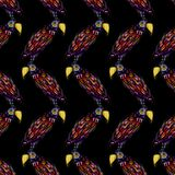 Seamless pattern with watercolor parrot.  Royalty Free Illustration