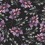 Seamless pattern with the watercolor pink and purple  Royalty Free Stock Images