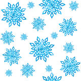 Seamless pattern with watercolor snowflakes. Royalty Free Stock Photography