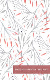 Seamless pattern with watercolor vector gentle plants Royalty Free Stock Photos