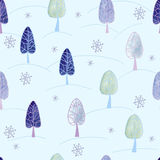Seamless pattern with  watercolor xmas design. Royalty Free Stock Photos