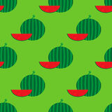 Seamless pattern with watermelon Royalty Free Stock Photography