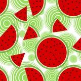 Seamless pattern with watermelon. Illustration Stock Photo