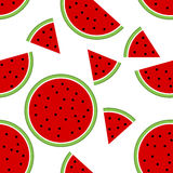 Seamless pattern with watermelon. Illustration Stock Image