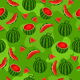 Seamless pattern with watermelon. royalty free illustration