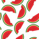 Seamless pattern with watermelon. Royalty Free Stock Images