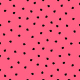 Seamless pattern with watermelon seeds. Abstract flesh fresh summer background with simple geometric shapes. Royalty Free Stock Photos