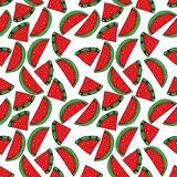 Seamless pattern with watermelon. Drawing in the style of pop art royalty free illustration