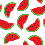 Seamless pattern with watermelon segments stock image