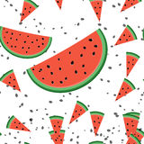 Seamless pattern with watermelon slices. Cute seamless pattern with watermelon slices royalty free illustration