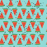 Seamless  pattern with watermelon slices. Cute seamless  pattern with watermelon slices Royalty Free Stock Photos