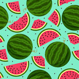 Seamless pattern with watermelon slices Royalty Free Stock Photo