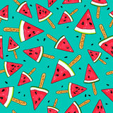 Seamless pattern of watermelon slices Royalty Free Stock Photography