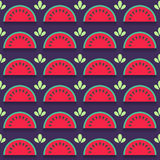 Seamless pattern with watermelon slices Royalty Free Stock Photos