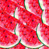 Seamless pattern with watermelon triangles Stock Photo