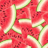 Seamless pattern with watermelon. Vector illustration Stock Photo