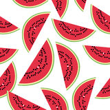 Seamless pattern with watermelon on the white background. Royalty Free Stock Photo