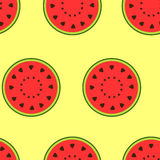 Seamless pattern with watermelon Stock Images