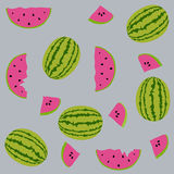 Seamless pattern watermelons Stock Photos